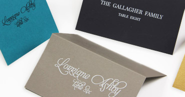 folded place cards - Printed Wedding Place Cards