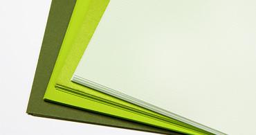Green Paper & Envelopes