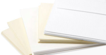 LCI White & Cream Felt Envelopes