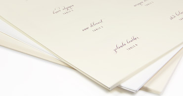 Wedding place cards with guest names printed or blank flat place cards colourmoves