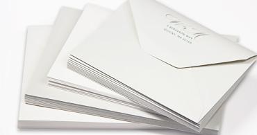 Cotton Letterpress Envelopes