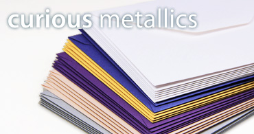 Curious Metallics Envelopes