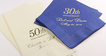 Personalized Anniversary Napkins