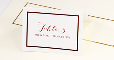Foil Border Printable Place Cards