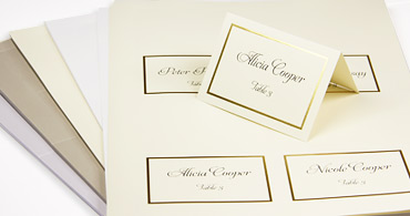 Wedding Place Cards With Guest Names Printed Or Blank - Wedding invitation templates: wedding place card size
