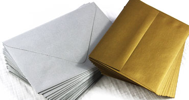 Silver & Gold Metallic Envelopes