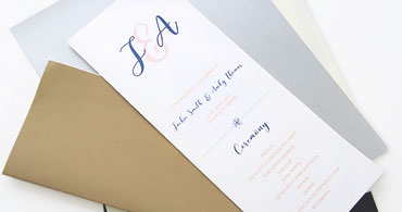Slim Wedding Programs