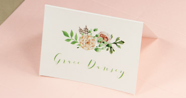 printable wedding place cards - Printed Wedding Place Cards