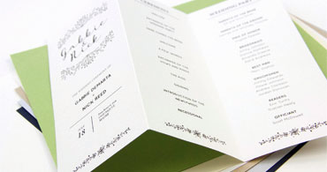 trifold wedding program paper thevillas co