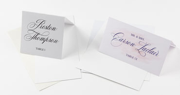 Wedding White Place Cards
