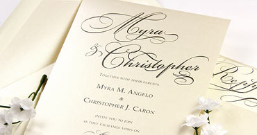 White & Cream Metallic Cards
