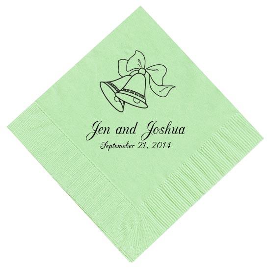 wedding bells personalized napkins