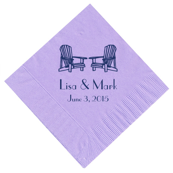 adirondack chair personalized napkins