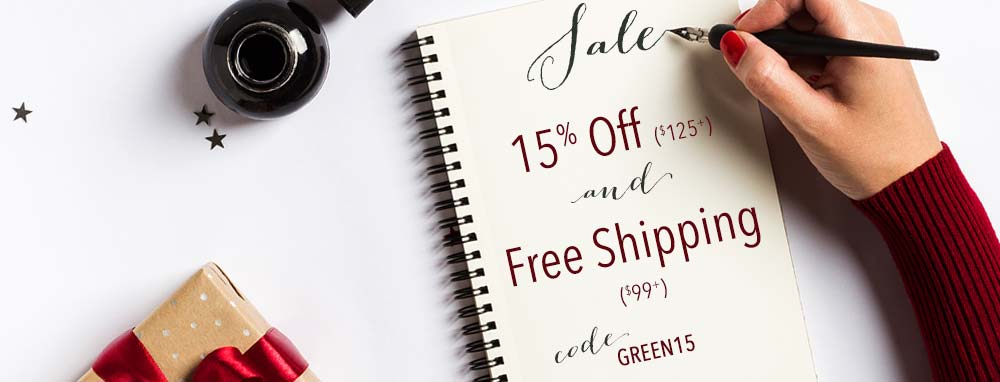 Green Monday Week Sale plus Free Shipping