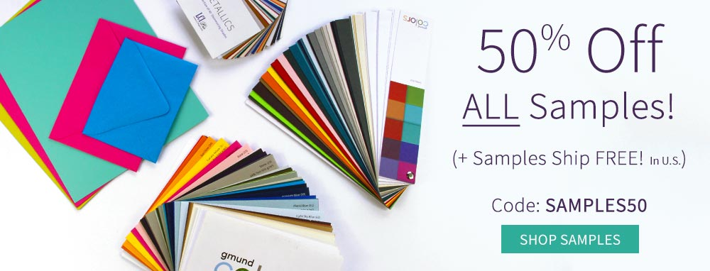 Order Specialty Paper Samples at 50% off Plus Free Shipping