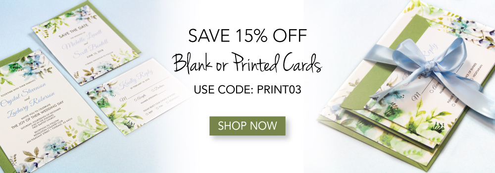15% Off Blank Cards Sale