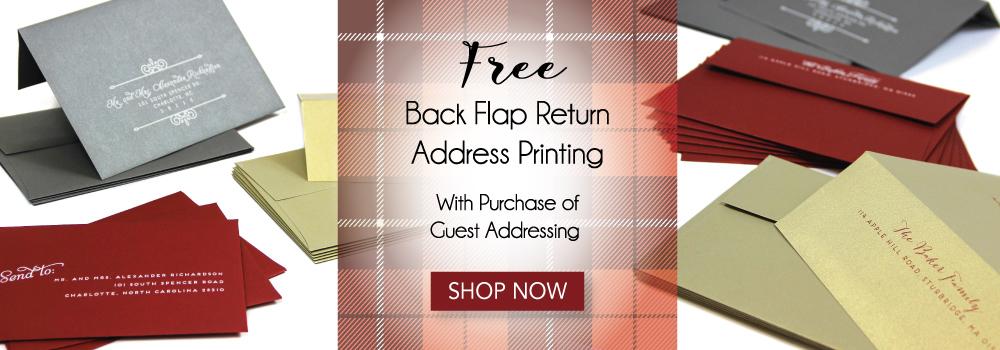 Free Backflap Printing