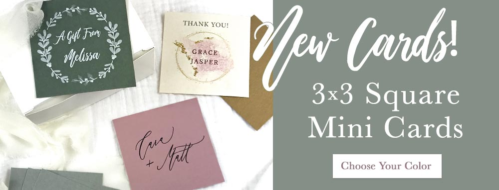 Order new 3x3 square mini cards for tags, place cards or paper craft