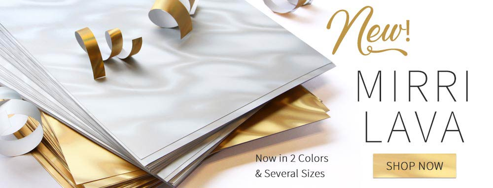 Shop Mirri Lava holographic paper in gold and white