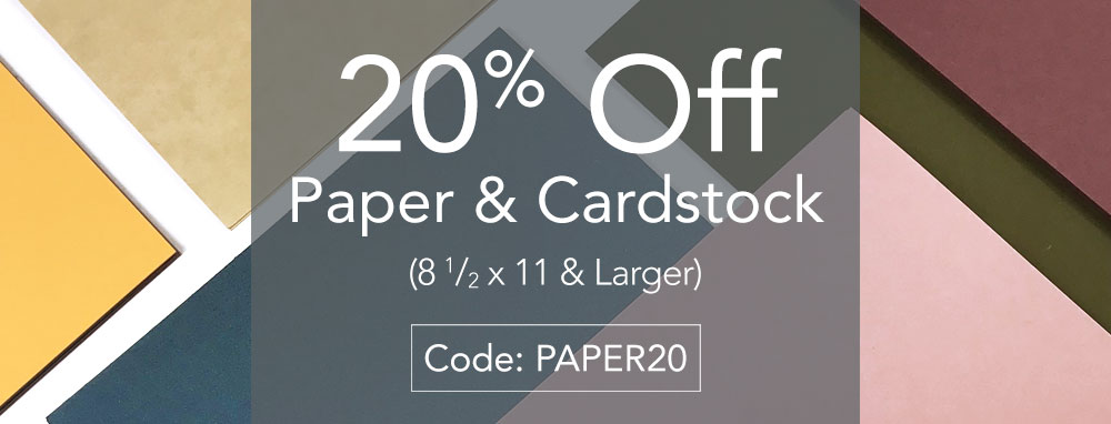 Shop invitation paper and cardstock at 20% off
