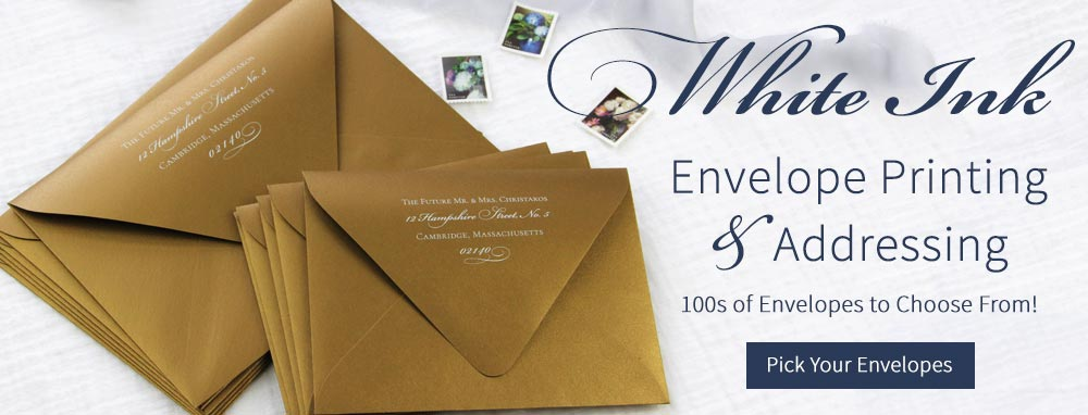 White Ink Envelope Printing & Guest Addressing for the Holidays