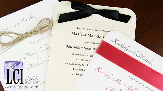 Round Corner Wedding Invitations - Timeless, Modern Style