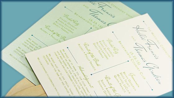 3 Steps to a Stylish Wedding Program Fan | LCI Paper
