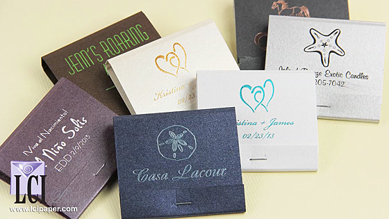 Video Description: Personalized Metallic Matchbooks