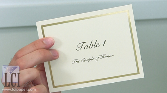 Video Description: Table Cards