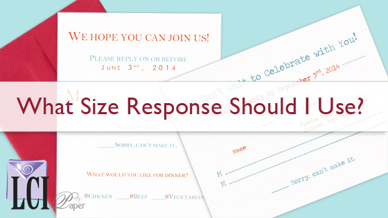 Standard Sizes for Wedding Response Cards & Envelopes