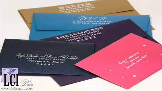 White Ink Printing on Dark Envelopes