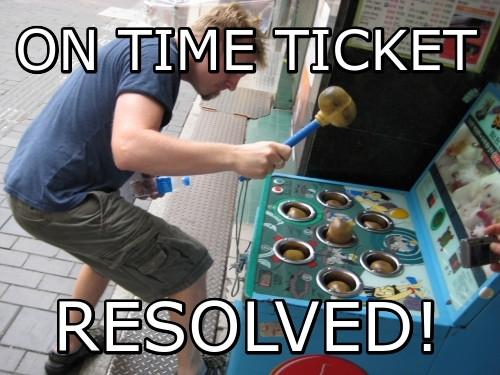 On time Ticket Resolved!