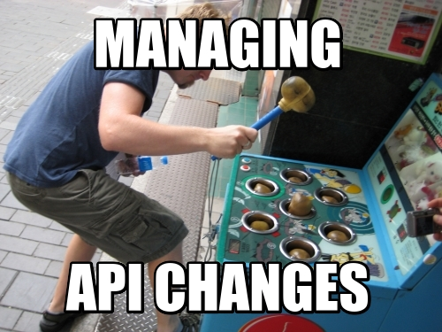 Managing API CHanges