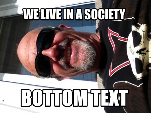 We live in a society Bottom Text