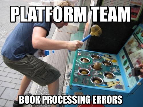 Platform TEAM BOOK PROCESSING ERRORS