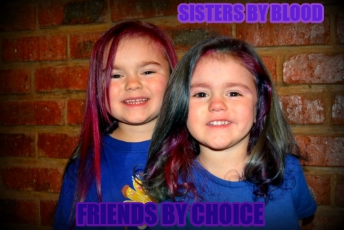 Sisters by blood Friends by choice