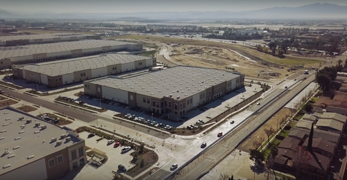 Metropolitan Warehouse and Delivery Aerial View