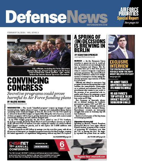 Defense News, Covering the politics, business and technology