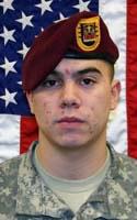 Army Pfc. Justin A. Casillas