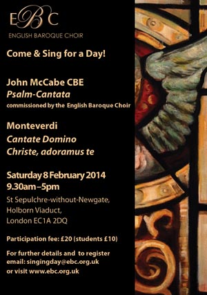 Opportunity to learn new McCabe choral work
