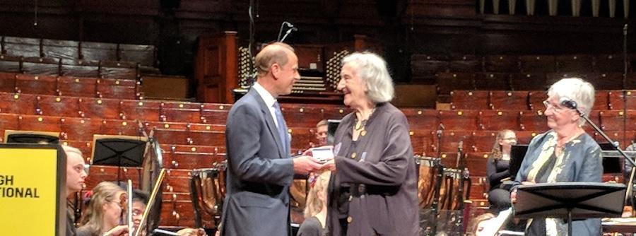 Thea Musgrave receives Royal Society of Edinburgh Royal Medal 2018