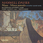 New Maxwell Davies Choral CD