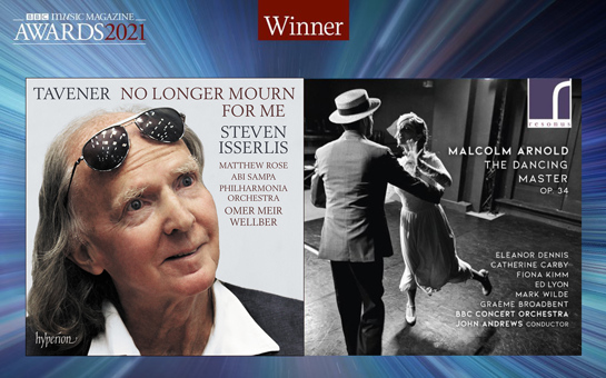 Malcolm Arnold and John Tavener recordings win at BBC Mus...