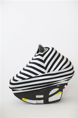 MILK SNOBTM CAR SEAT COVER BW Striped