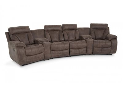 Tahoe 6 Piece Home Theater Sectional