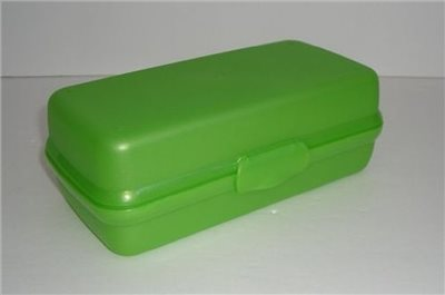 Tupperware Packables Large Rectangular Sub Sandwich Hoagie Keeper U0026 Travel Storage  Container (lime Green)