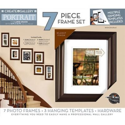 Pinnacle create a gallery portrait 7 piece set walmart for Walmart registry wedding gifts