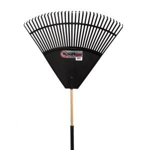 Cavex 32 in black poly with foam blister guard leaf rake for Home depot wedding gift registry