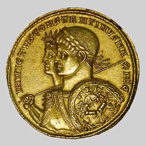 Constantine on Gold Coin