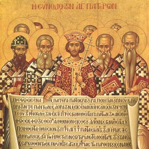Icon depicting the Council of Nicea